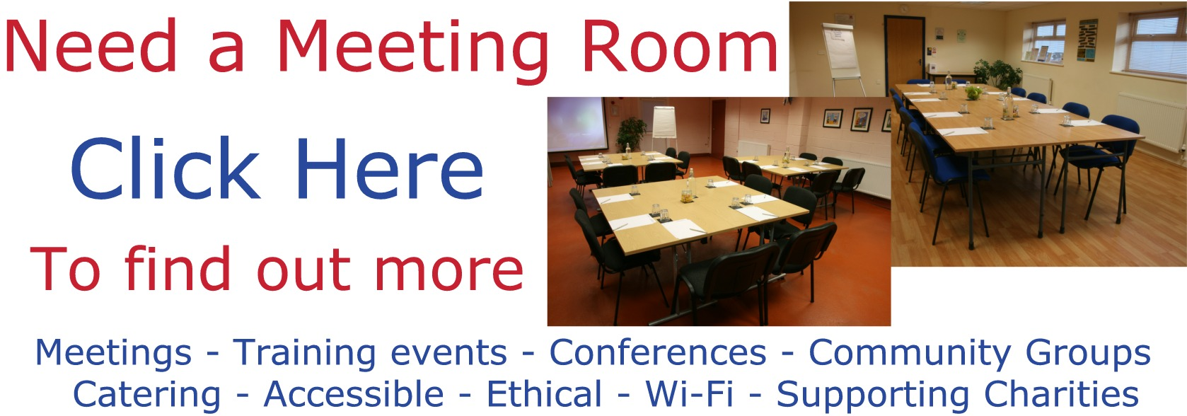Picture advertising Compass Disability Services meeting rooms